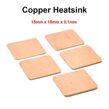 10pcs/lot 15x15x0.1mm DIY Copper Shim Heatsink thermal Pad Cooling for Laptop BGA CPU VGA Chip RAM IC Cooler Heat sink
