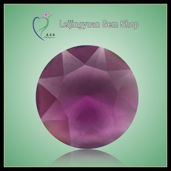 Factory price round faceted glass amethyst rough gems
