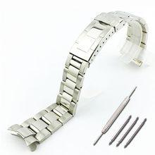 Ремешок из нержавеющей стали, мужские часы, аксессуары для часов, ремешок для дайвинга, 20 мм, ремешок для женщин(Китай)