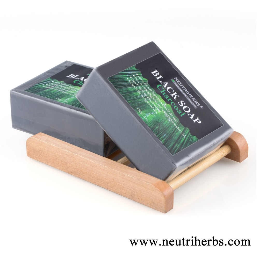 Natural African Black Soap Acne Claensing Exfoliating Charcoal Detox Soap