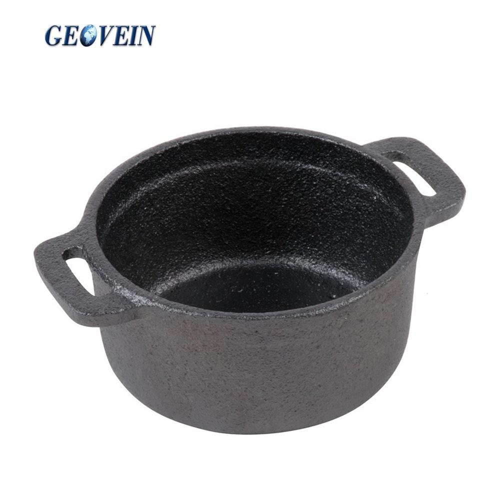 Миниатюрные кастрюли для приготовления пищи, эмалированная чугунная кастрюля