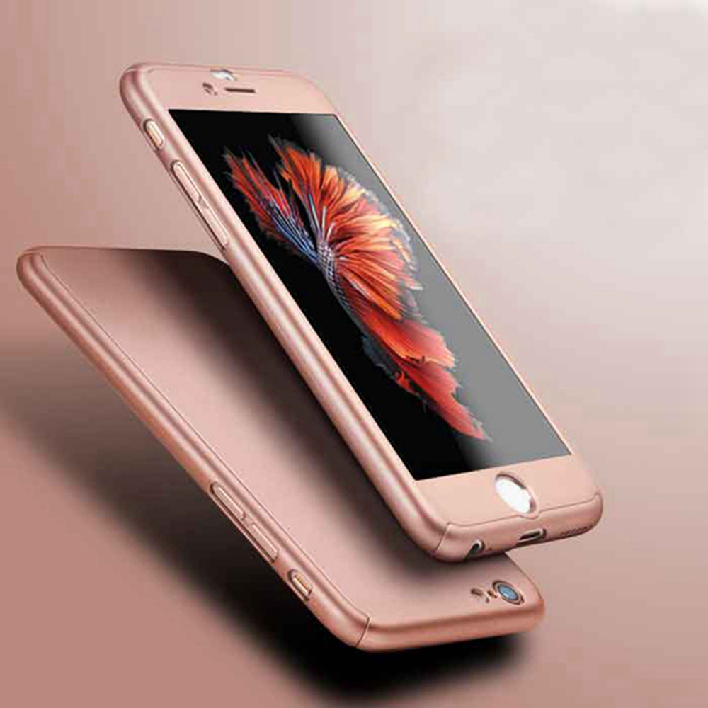 4e642625b14b8 iPhone 6 360 Degrees Protect Case With Tempered Glass Protector