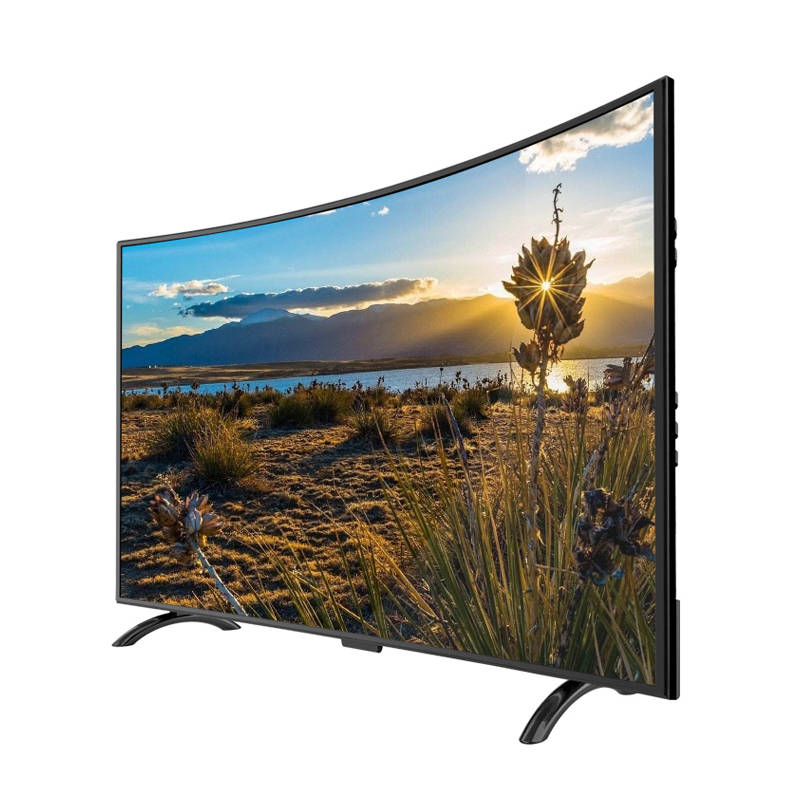 60 дюймовый изогнутый экран высокого разрешения пульт дистанционного управления настенный Телевизор СВЕТОДИОДНЫЙ Телевизор гостиничный торговый центр бар светодиодный телевизор