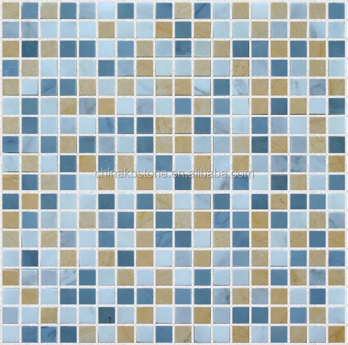 blue yellow mixed square marble mosaic tile swimming pool tile size buy swimming pool tile size mosaic for swimming pools blue mosaic swimming pool