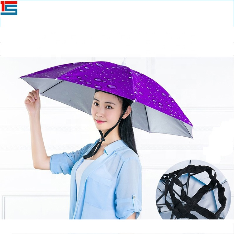 Promotional Rainbow Cap Head Umbrella Hat