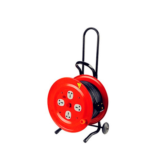 High quality Garden Extension Drum Retractable Electric Cable Reel with Wheel