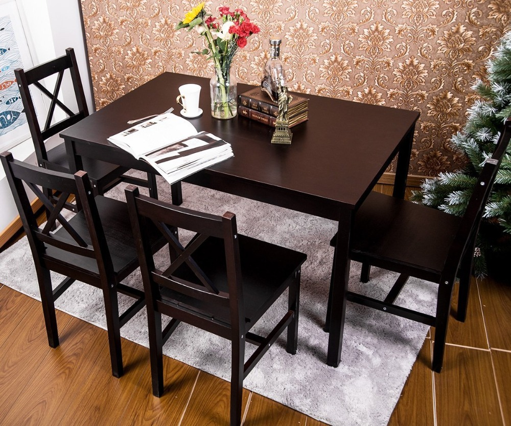 Dining Room Furniture 5 Pc Solid Wood Dining Set 4 Person Table And Chairs Buy Dining Table Chair Furniture Dining Room Furniture Product On Alibaba Com