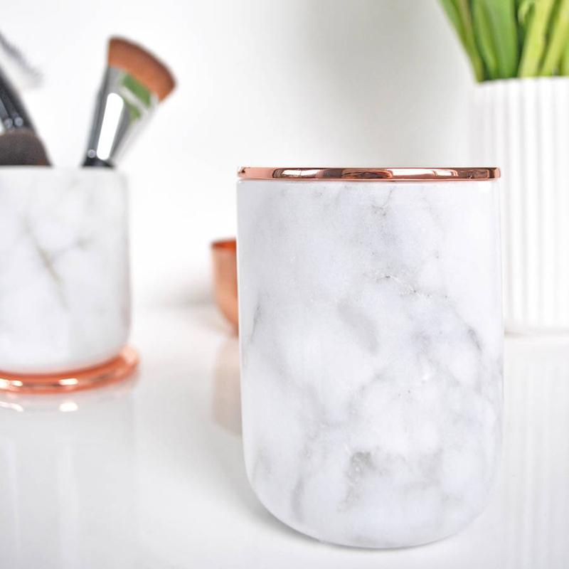 Высококачественная Белая декоративная мраморная Цветочная банка natunal