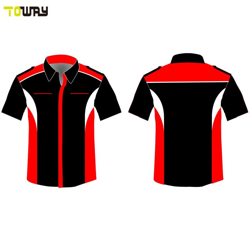 button down custom blank racing shirts