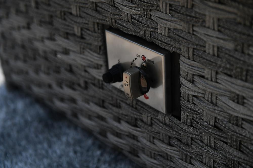 4 места, новый дизайн, Королевский газовый огонь, диван, мебель, уличный ротанговый Плетеный садовый комплект для патио
