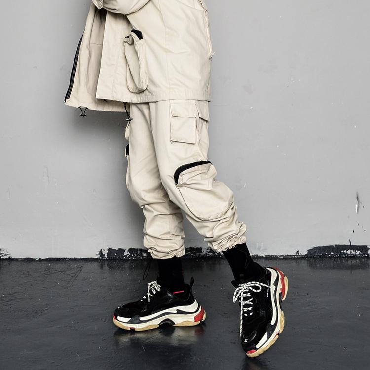 Новинка, модные мужские комбинезоны, Повседневная Уличная одежда в стиле хип-хоп, мужские тактические брюки-джоггеры с несколькими карманами