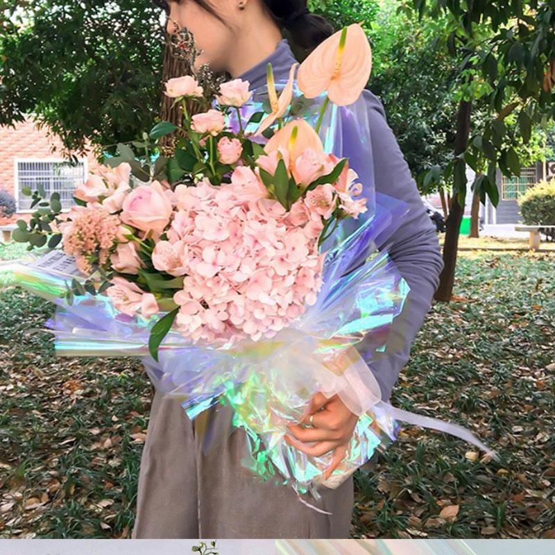 20 листов прозрачной отражающей пленки с радужными цветами
