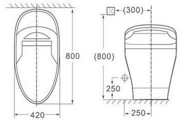 735a S New Model Smart Toilet Seat European Standard