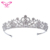 Dilian Wedding Free Gift Silver Crystal Rhinestone Wedding Bride Crown