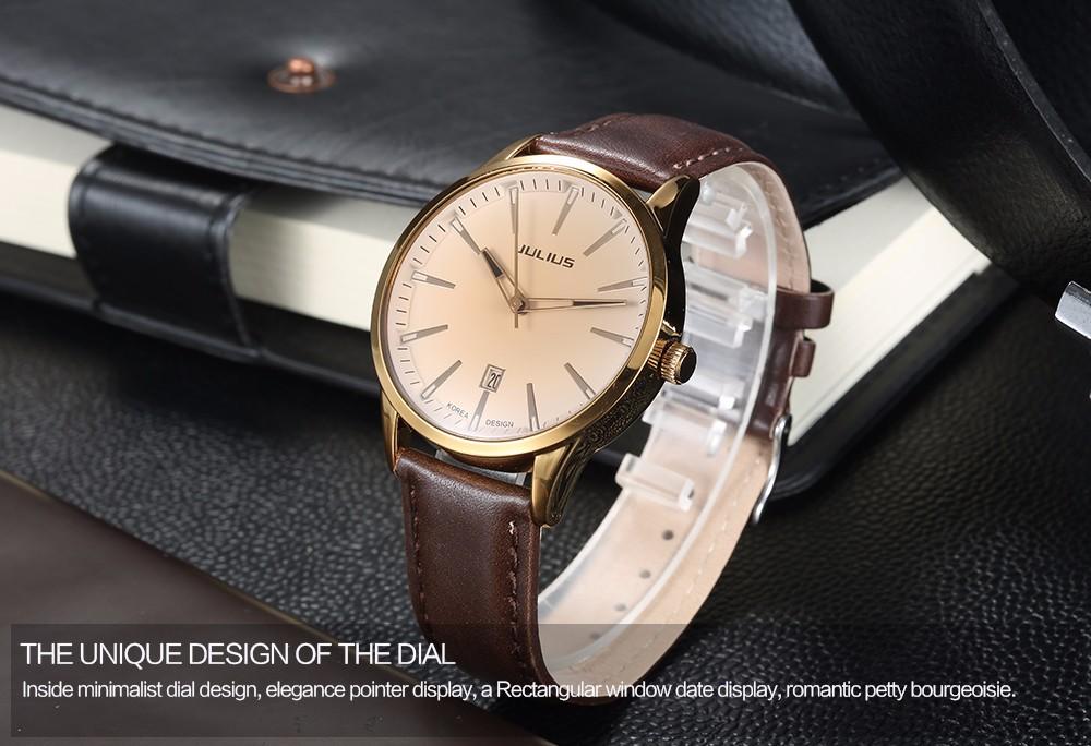 2017 Famous JULIUS Brand Women Lady Fashion Casual Quartz Watch Clock  Calendar Luxury Female Wristwatch montre femme reloj mujer - us360 6ff15b53f8b
