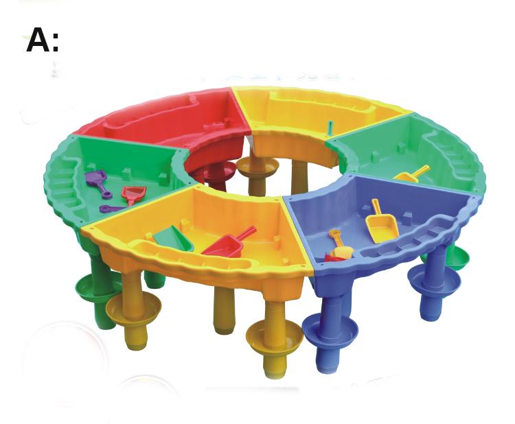 multifonction en plastique enfants maternelle assembl sable et table de jeux d 39 eau tables d. Black Bedroom Furniture Sets. Home Design Ideas