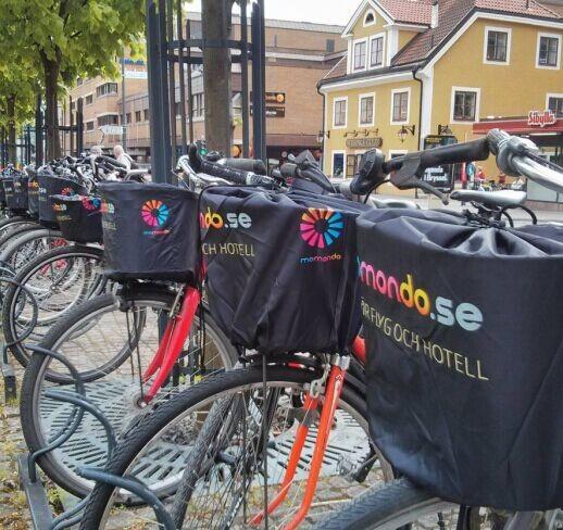 Высококачественный чехол с сублимационной печатью для велосипедной корзины