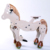 High quality ride on toy wooden kids walking stable horse toy pony mechanical riding horse