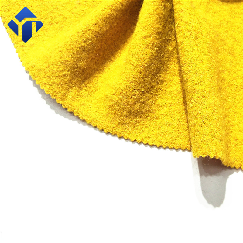 high quality wool knit double faced boiled wool fabric for overcoat