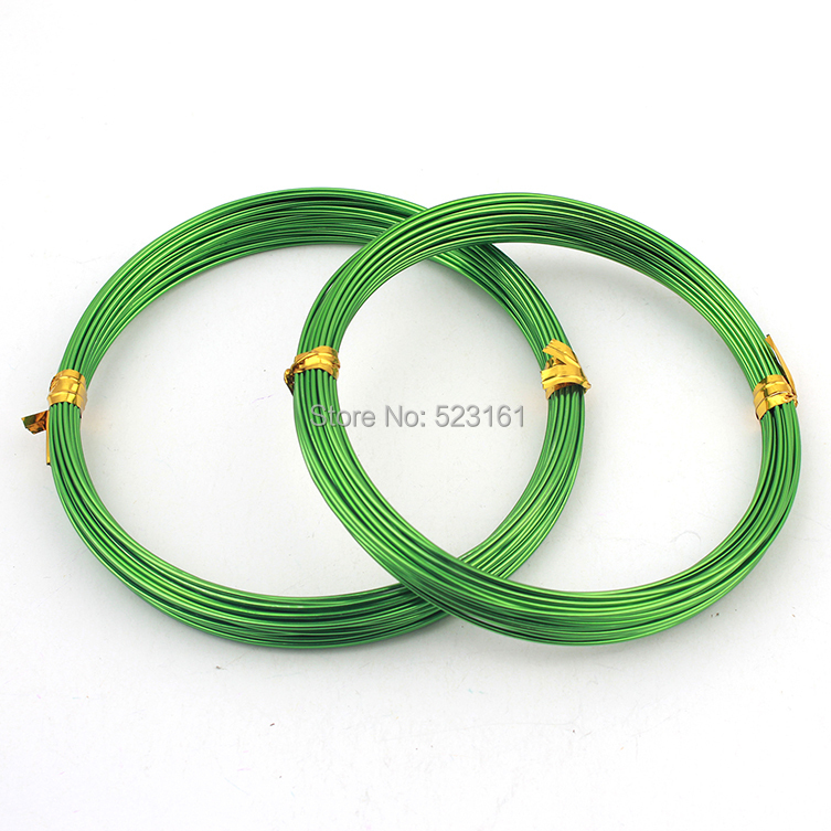 1.0mm 18 gauge Grass Green Anodized Aluminum Wire Coil for ...