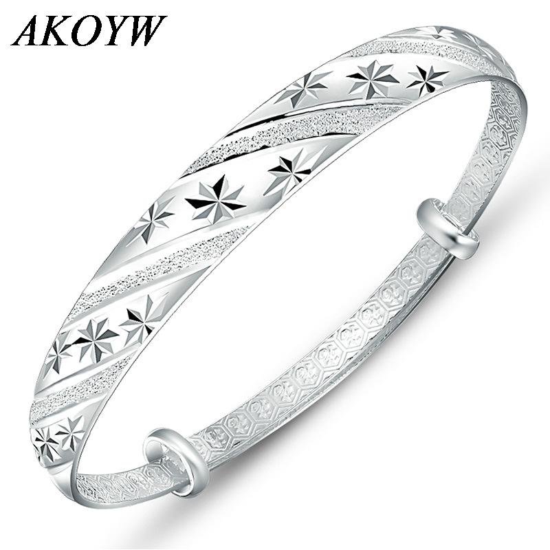 Fashion silver jewelry meteor shower sliding ring 999 female models fine silver bracelet bracelet wholesale