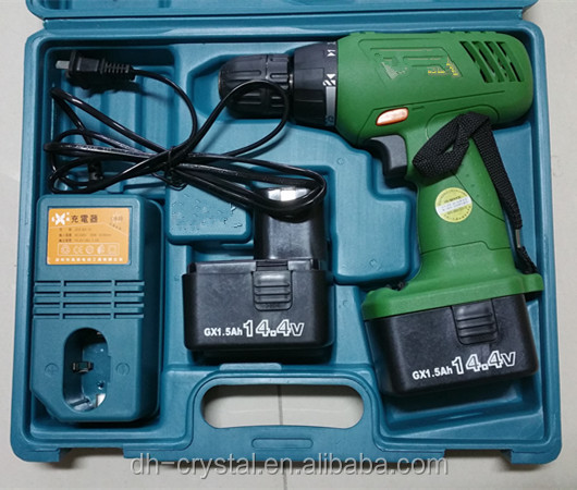 eature 1. Forward/reverse rotation 2. Normal drilling/screwing 3. Compact design with Ni-cd battery. 4. 2 speed High - low s