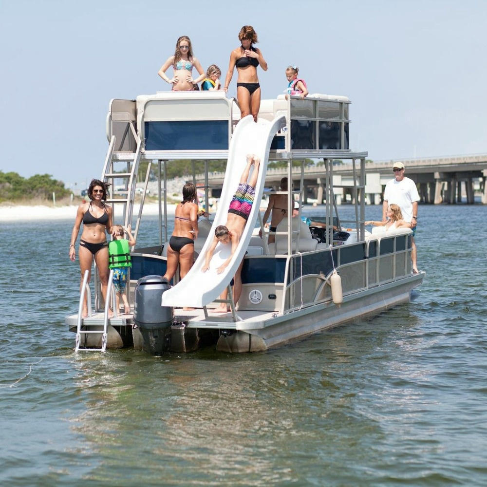 Luxury Double Decker Pontoon Boat For Sale With Bathroom Buy Welded Aluminum Boats For Sale Luxury Pontoon Boat Pontoon Boat For Sale With Bathroom Product On Alibaba Com