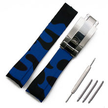 Мужские аксессуары для часов, камуфляжный резиновый ремешок для часов, 20 мм, водонепроницаемые силиконовые спортивные часы с пряжкой(Китай)