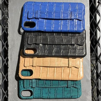Dropshipping For iPhone Hua Wei Croc Genuine Leather Custom Luxury Leather Cell Phone Case