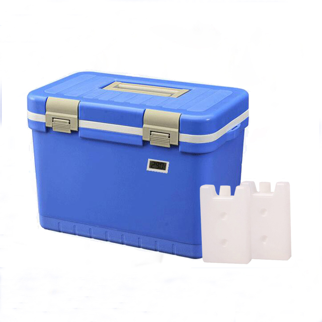 11L vaccine carrier cold box with temperature data logger