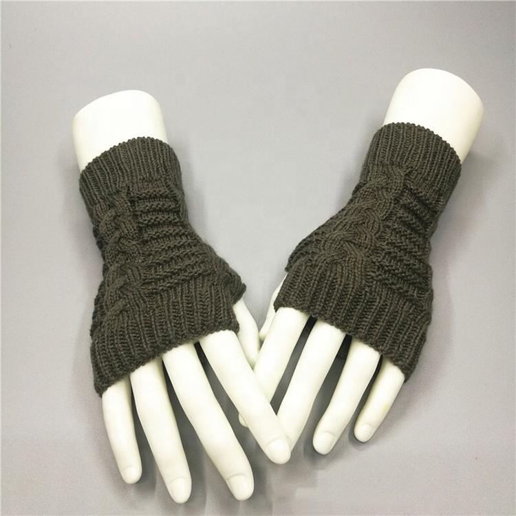 Custom Women's Hand Winter Warm Fingerless Arm Warmers Gloves