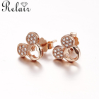 Gold Plated Earring Kids Earrings Wholesale Rose Gold Plated Mickey Mouse Earring 925 Silver Jewelry For Kids