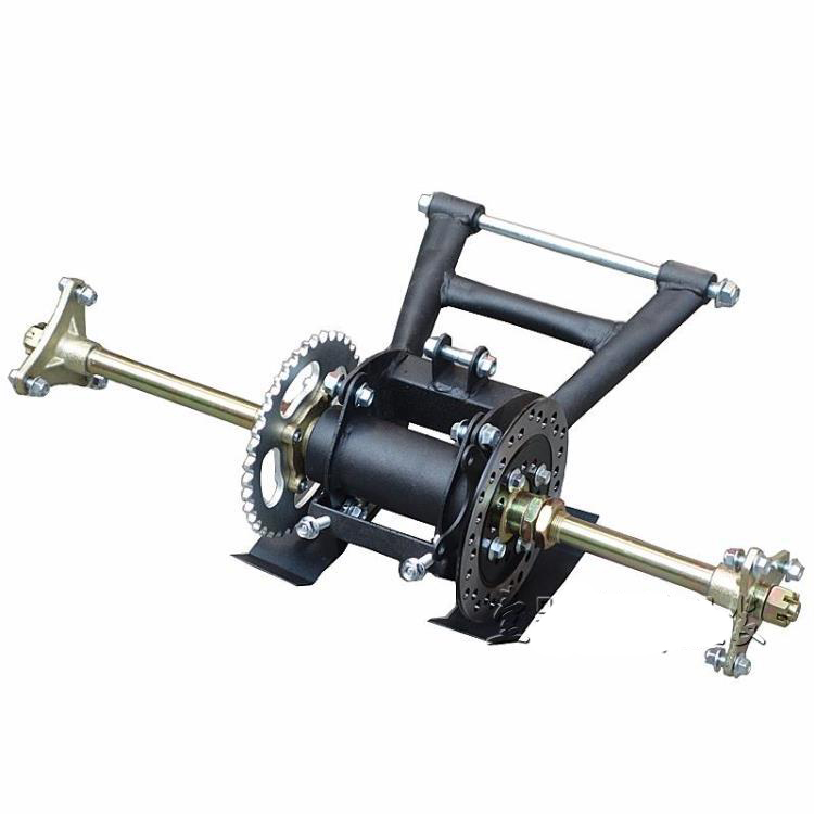 Rear Axle Hub+Sprocket Disc+Chain+Brake Master Assembly ATV Quad go kart Buggy