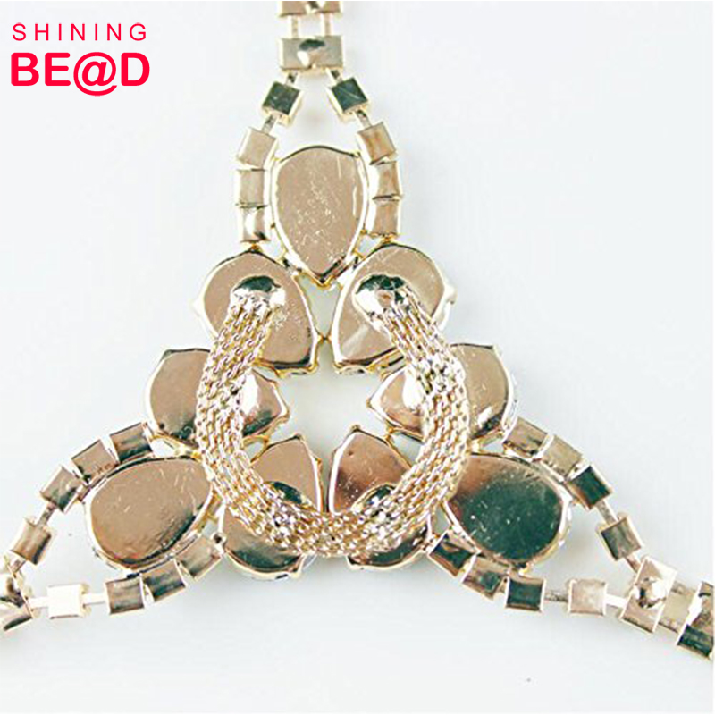 2019 Fashion gold DIY high quality bikini rhinestone connector accessory for ladies swimwear