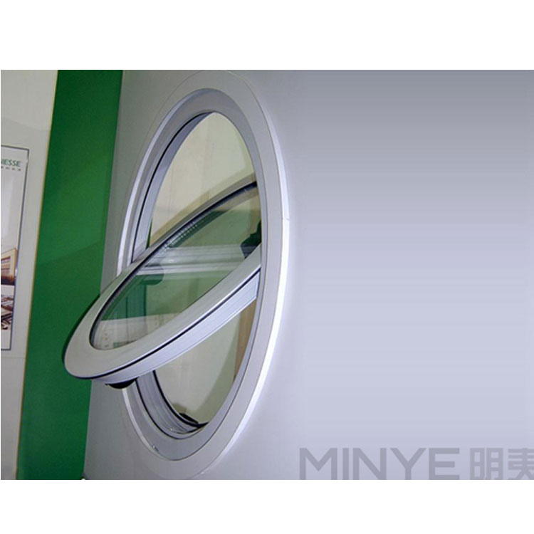 Hot Sell Aluminum Center Round Window Pivot Shape Hung Window