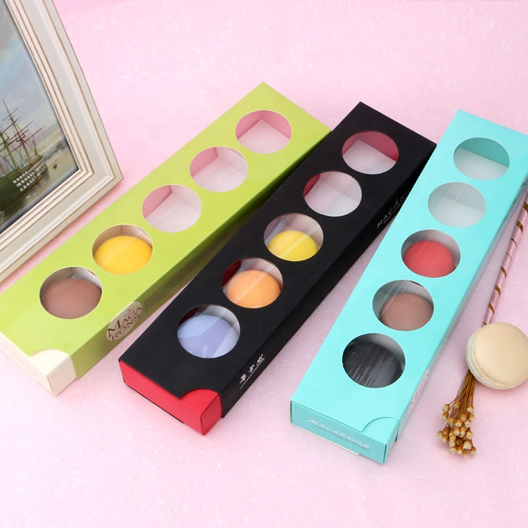 Wholesale Customized Macaron Gift Cookie Packaging Box