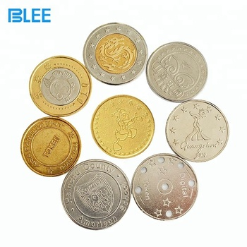 OEM coin factory cheap custom different size different metal arcade token coins washing machine coin