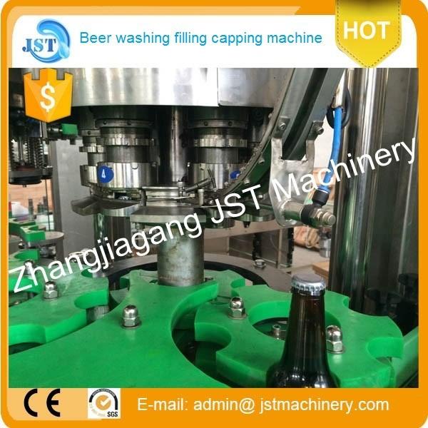 2000 BPH стеклянная бутылка, автоматическое оборудование для производства пива/растений