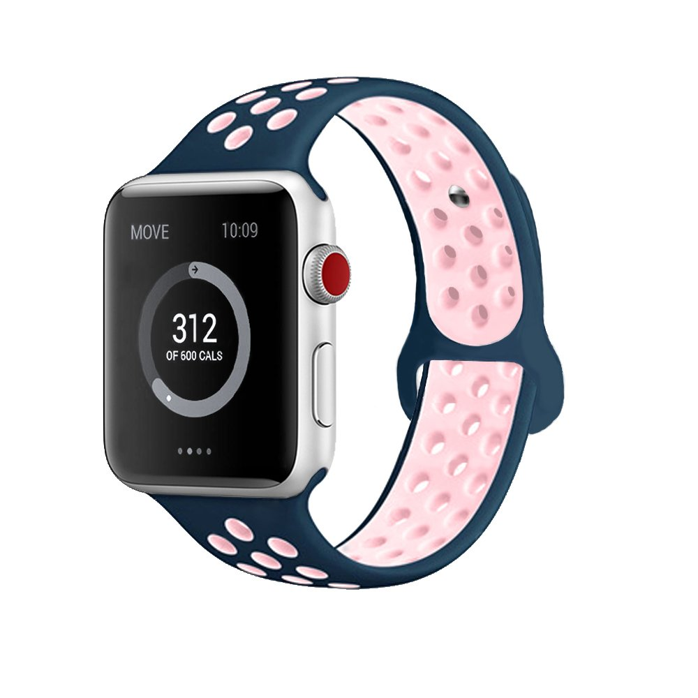 Sport Silicone Band for Apple watch Breathable strap Wristband for iwatch Series 6/Series 5/Series 4/Series 3/2/1