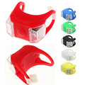 1x Waterproof Silicone Mountain Bike Cycling Light Front Rear Tail Lamp Flash Light Bicycle Handlebar Frame
