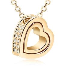 Бренд Mostyle, золотые Австрийские кристаллы, роскошные брендовые ожерелья с сердцем и кулоны, модные ювелирные изделия для женщин, 2020(Китай)
