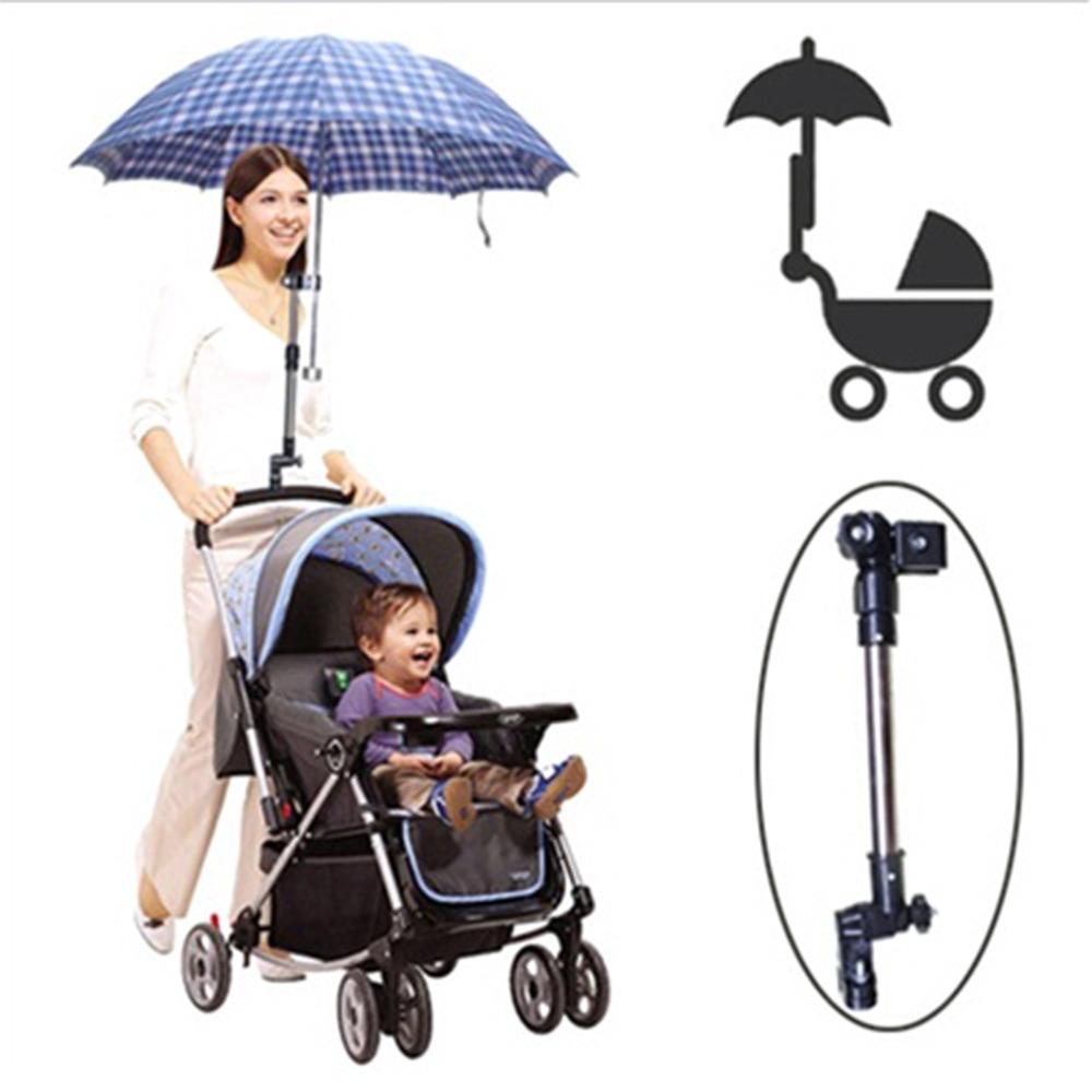Зонтик держатель из нержавеющей стали Коляски Поворотный Кресло Велосипедов Зонтик Разъем Коляска Держатель Любой Угол Новый