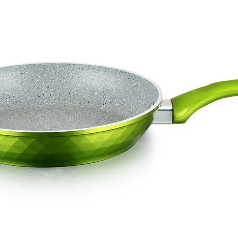 Алюминиевая посуда, кулинарная сковорода с алмазным корпусом, горячая ковка, алюминиевая мраморная сковорода