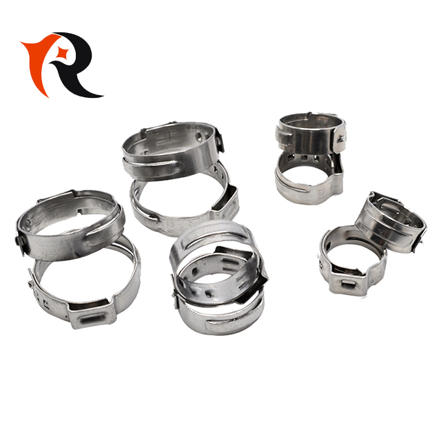 Stainless Steel Single Ear Pinch Clip Pipe Clamps For Auto Parts
