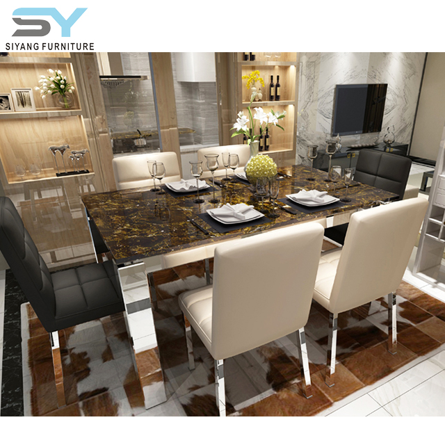 Granite Dining Table Designs In India Stainless Steel Dining Table Ct031 Buy Granite Dining Table Designs In India Granite Top Dining Table Guang Zhou Furniture Product On Alibaba Com