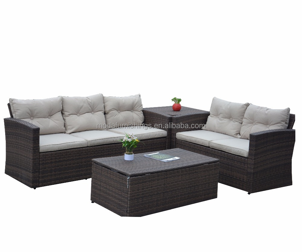 All Weather 4 Piece Rattan Sectional Seating Group With Cushions Buy Rattan Sectional Seating Rattan Sectional Sofa Sectional Seating Group With Cushions Product On Alibaba Com