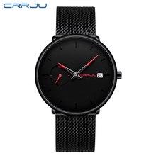 Crrju часы мужские часы Топ бренд класса люкс ультра тонкие мужские часы водонепроницаемые спортивные часы Дата Календарь Мужские часы Reloj ...(Китай)