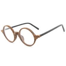 HDCRAFTER круглая деревянная оправа для очков в стиле ретро для мужчин и женщин, оправа для очков, оптические очки с прозрачными линзами, компьют...(Китай)