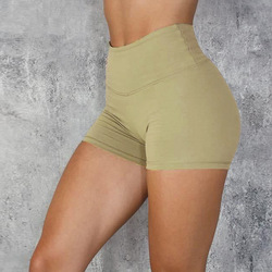 Performance Workout Women's Athletic Running Fitness Blank Plain Gym Shorts Women Nylon  Sports Yoga Shorts