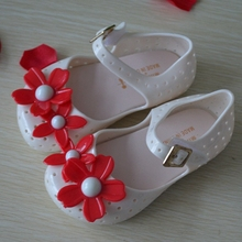 Stylish Style Mini Melissa Shoes Kids Flat Princess Flower Children Girls Sandals Soft Prewarker Summer Baby
